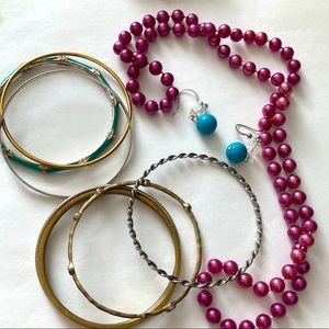 3/$15 L• Jewelry bundle purple & turquoise
